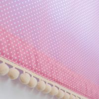 Rózsaszín alapon fehér apró pöttyös anyag - DORDONA